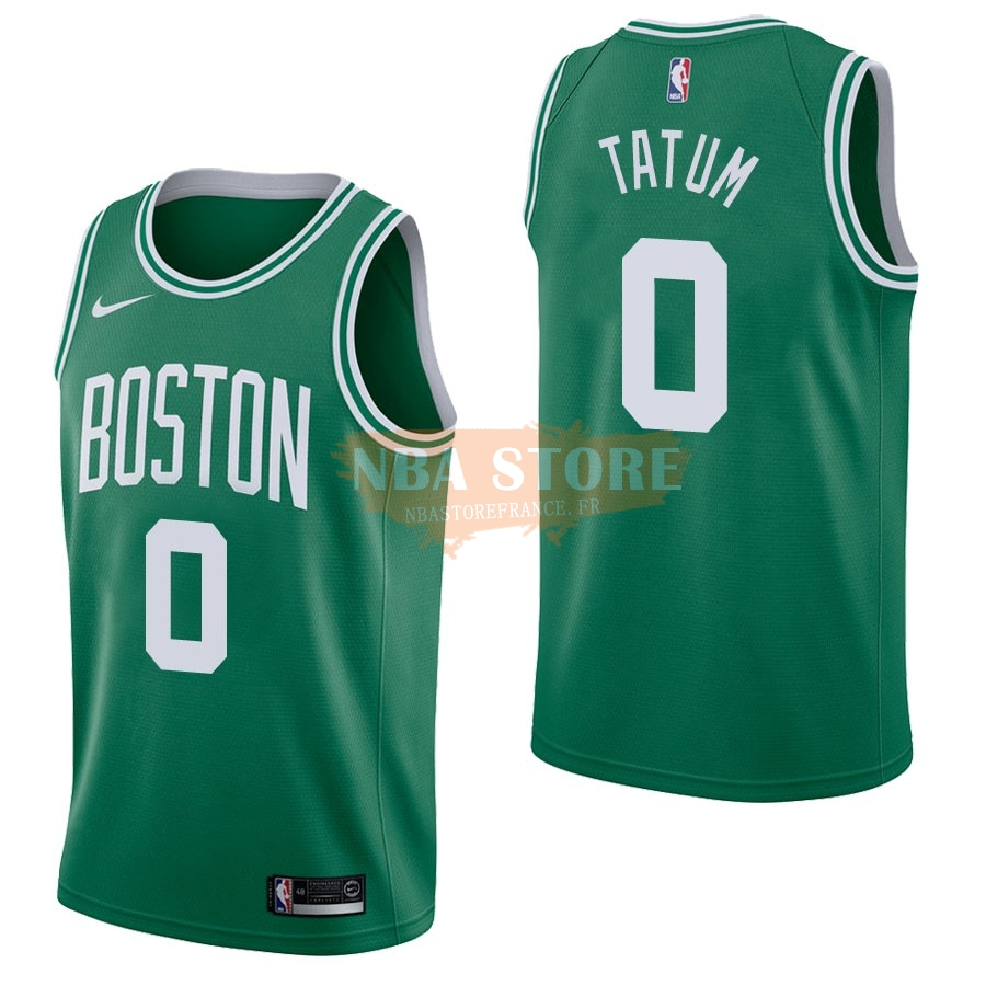 Maillot NBA Boston Celtics NO.0 Jayson Tatum Vert Icon 2017-18