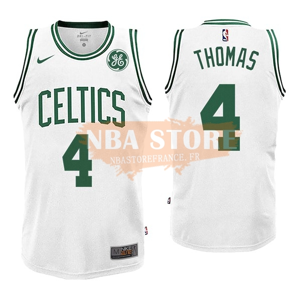 Maillot NBA Boston Celtics NO.4 Isaiah Thomas Blanc 2017-18