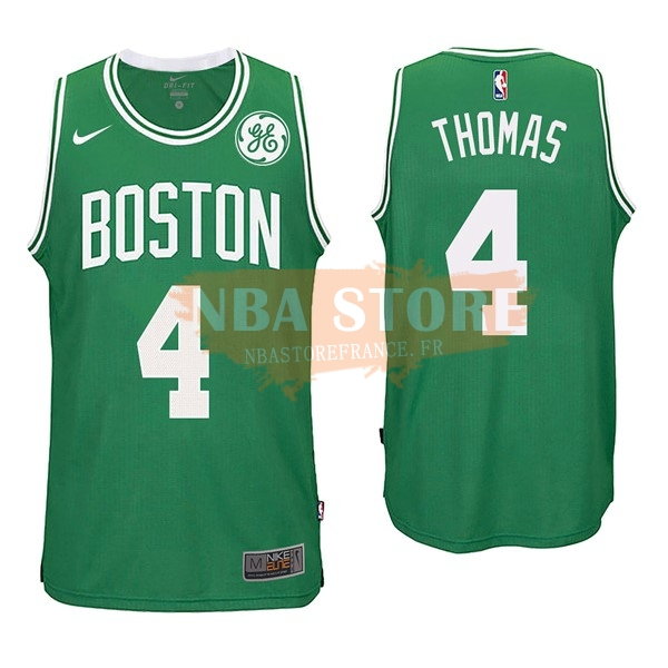 Maillot NBA Boston Celtics NO.4 Isaiah Thomas Vert 2017-18