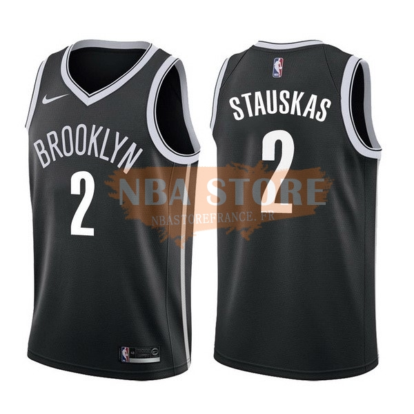 Maillot NBA Brooklyn Nets NO.2 Akil Mitchell Noir Icon 2017-18