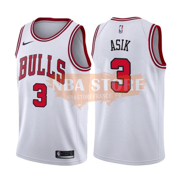 Maillot NBA Chicago Bulls NO.3 Dwyane Wade Blanc Association 2017-18