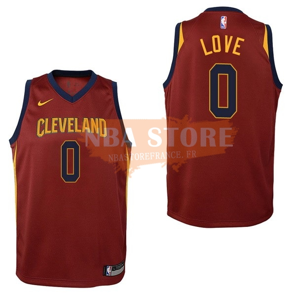 Maillot NBA Enfant Cleveland Cavaliers NO.0 Kevin Love Rouge Icon 2017-18