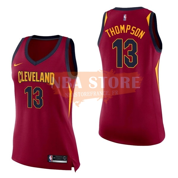 Maillot NBA Femme Cleveland Cavaliers NO.13 Tristan Thompson Rouge Icon 2017-18
