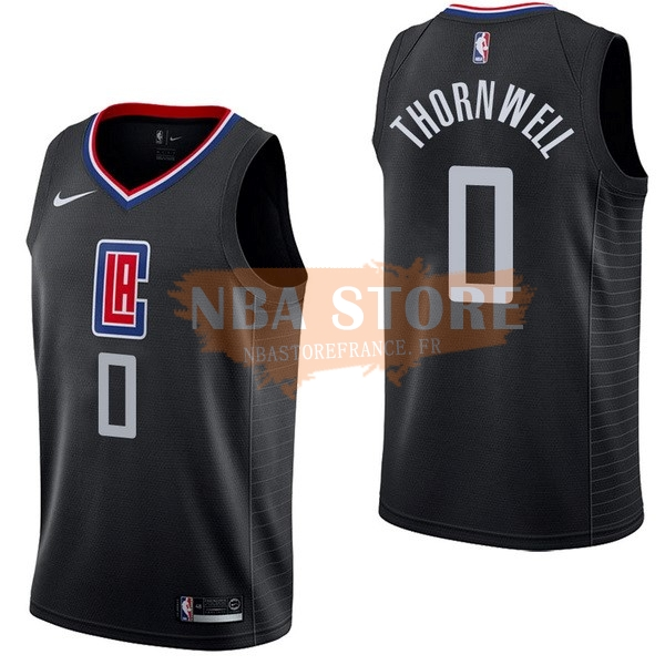 Maillot NBA Los Angeles Clippers NO.0 Sindarius Thornwell Noir Statement 2017-18