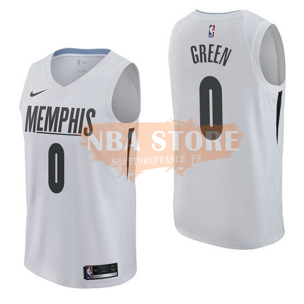 Maillot NBA Memphis Grizzlies NO.0 Jamychal Green Nike Blanc Ville 2017-18