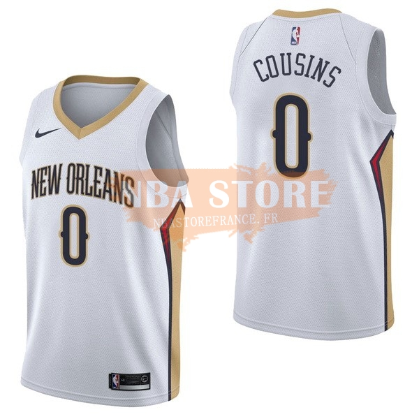 Maillot NBA New Orleans Pelicans NO.0 Demarcus Cousins Blanc Association 2017-18