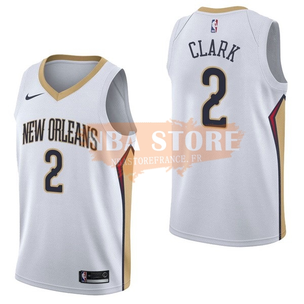 Maillot NBA New Orleans Pelicans NO.2 Ian Clark Blanc Association 2017-18