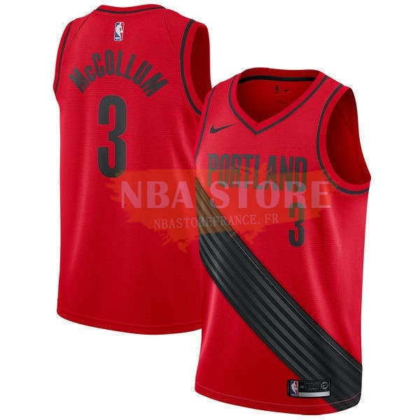 Maillot NBA Portland Trail Blazers NO.3 C.J. Mccollum Rouge Statement 2017-18