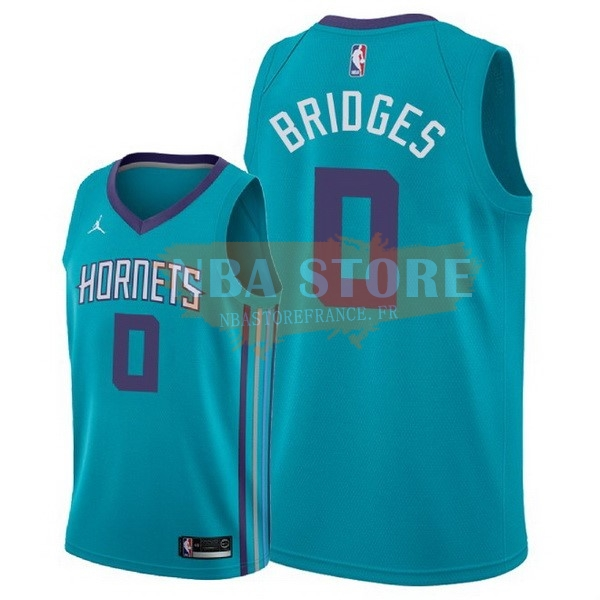 Maillot NBA Charlotte Hornets NO.0 Miles Bridges Vert Icon 2018