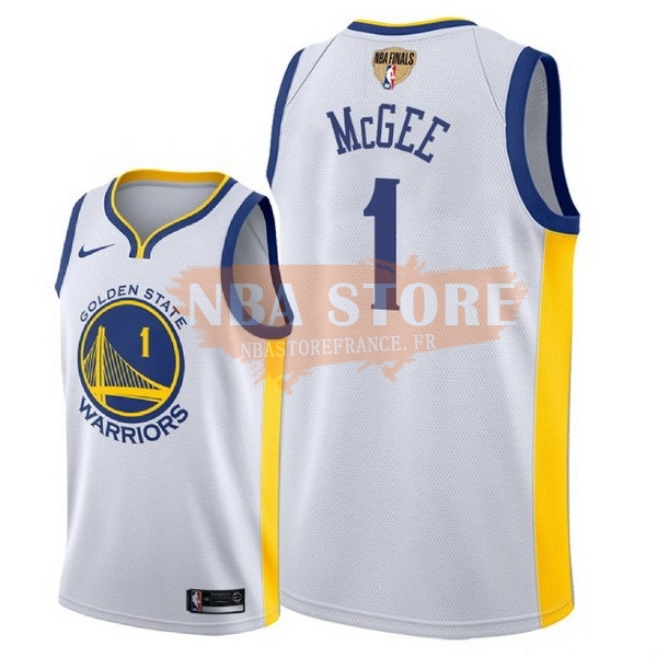 Maillot NBA Golden State Warriors 2018 Final Champions NO.1 Javale Mcgee Blanco