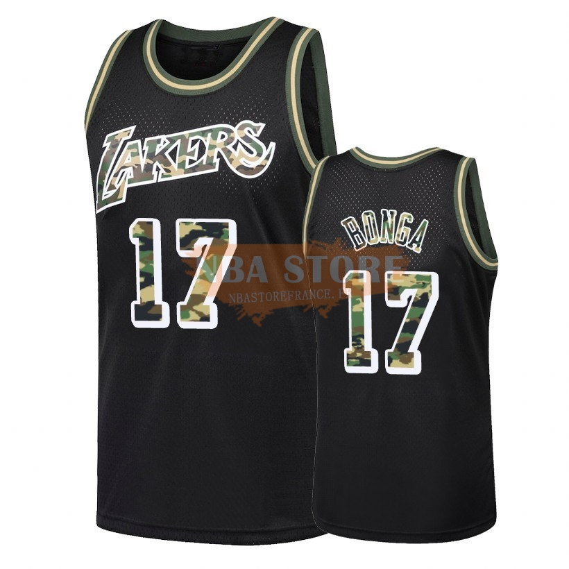 Maillot NBA Camo Feu Droit Los Angeles Lakers NO.17 Isaac Bonga Noir 2018