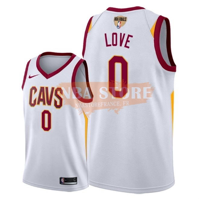 Maillot NBA Cleveland Cavaliers 2018 Final Champions NO.0 Kevin Love Blanc Association Patch