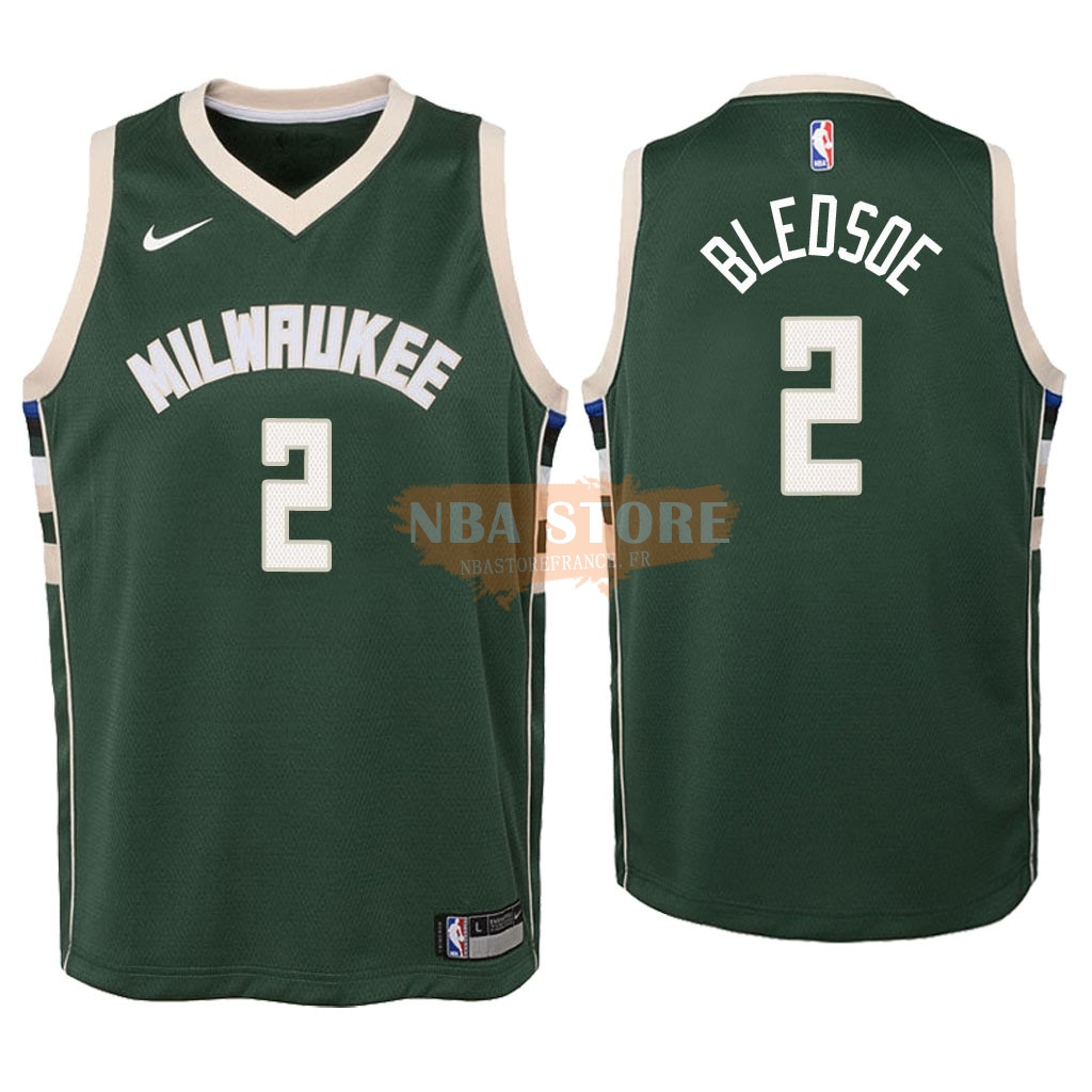 Maillot NBA Enfant Milwaukee Bucks NO.6 Eric Bledsoe Vert Icon 2018