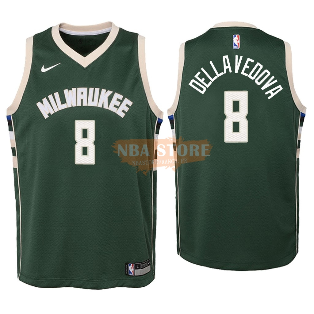 Maillot NBA Enfant Milwaukee Bucks NO.8 Matthew Dellavedova Vert Icon 2018