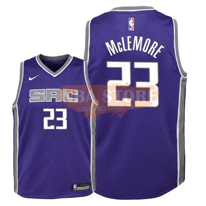 Maillot NBA Enfant Sacramento Kings NO.23 Ben Mclemore Pourpre Icon 2018