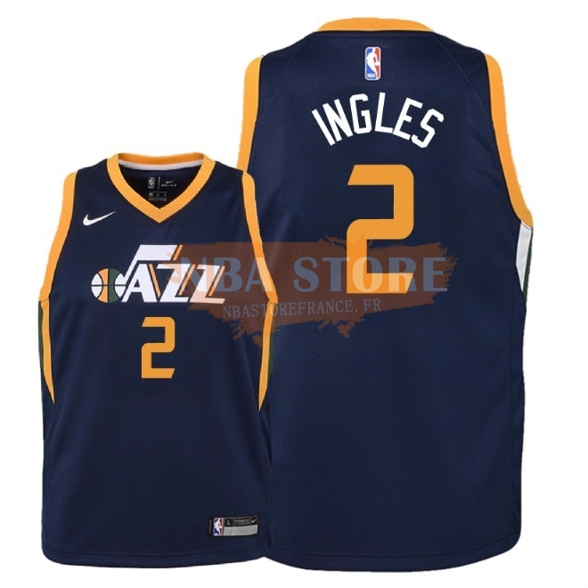 Maillot NBA Enfant Utah Jazz NO.2 Joe Ingles Marine Icon 2018