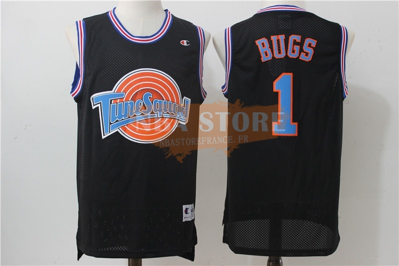 Maillot NBA Film Basket-Ball Tune Squad NO.1 Bugs Noir