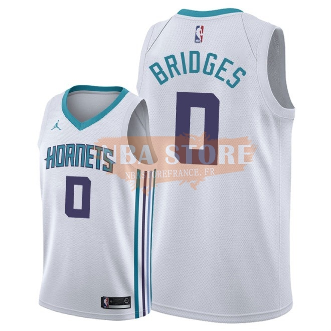 Maillot NBA Nike Charlotte Hornets NO.0 Miles Bridges Blanc Association 2018