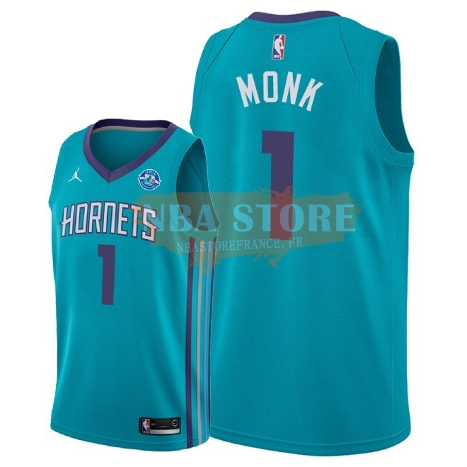 Maillot NBA Nike Charlotte Hornets NO.1 Malik Monk Vert Icon 30Th 2018