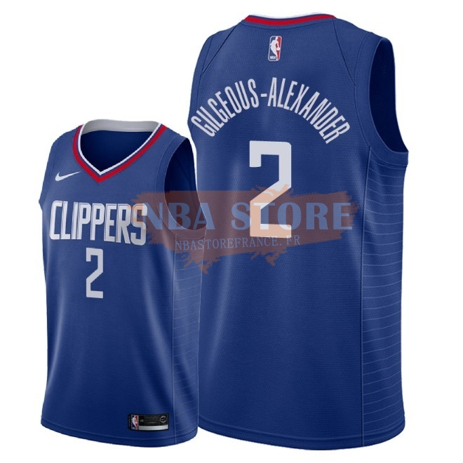 Maillot NBA Nike Los Angeles Clippers NO.2 Shai Gilgeous Alexander Bleu Icon 2018