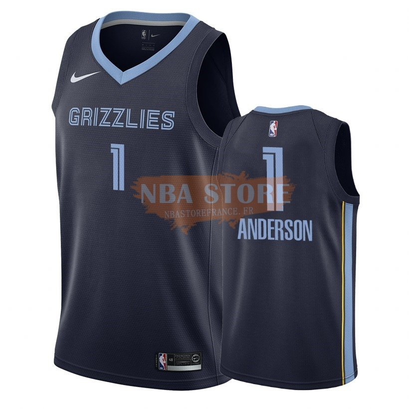 Maillot NBA Nike Memphis Grizzlies NO.1 Kyle Anderson Marine Icon 2018-19