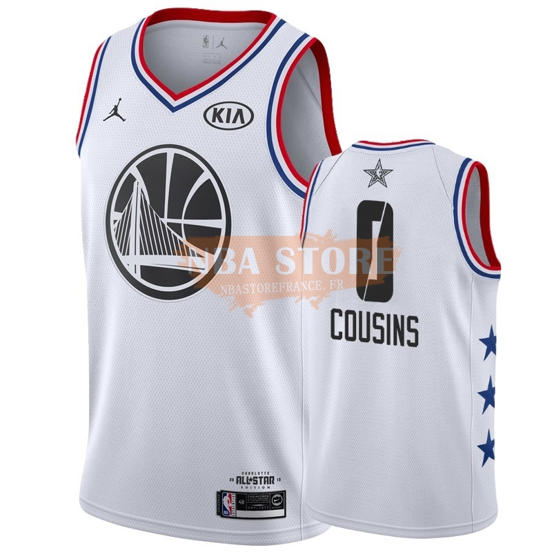 Maillot NBA 2019 All Star NO.0 Demarcus Cousins Blanc