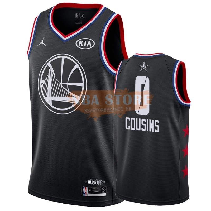 Maillot NBA 2019 All Star NO.0 Demarcus Cousins Noir
