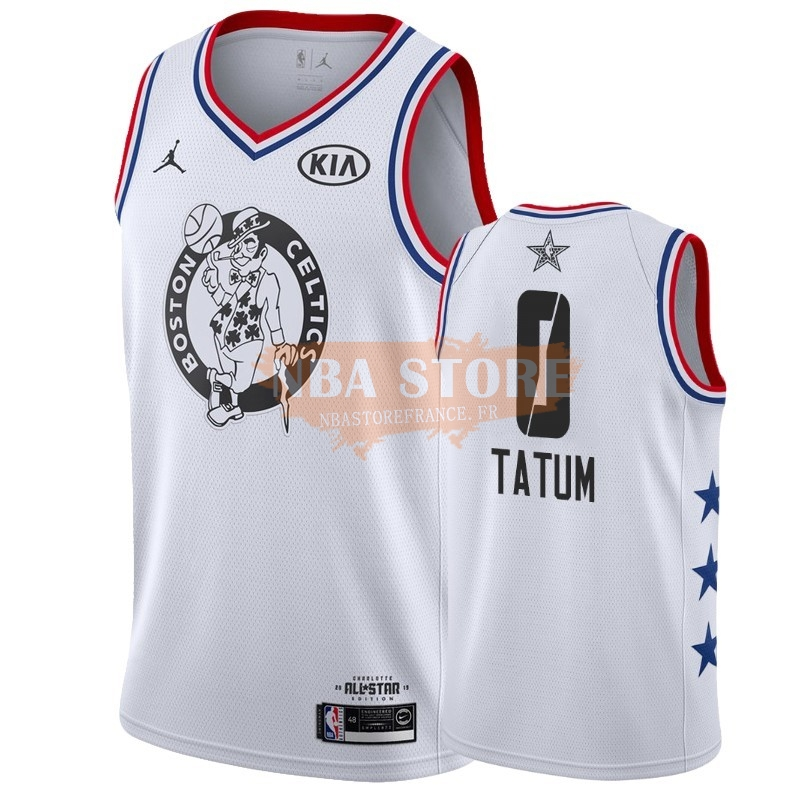 Maillot NBA 2019 All Star NO.0 Jayson Tatum Blanc