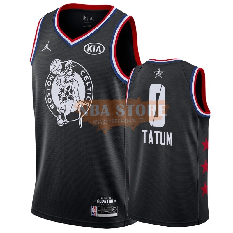 Maillot NBA 2019 All Star NO.0 Jayson Tatum Noir