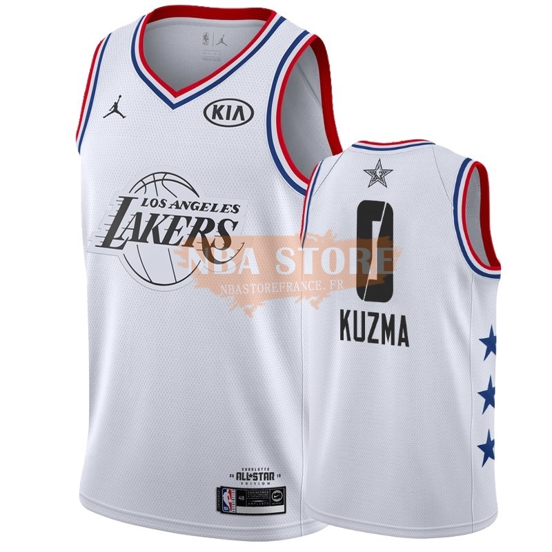 Maillot NBA 2019 All Star NO.0 Kyle Kuzma Blanc