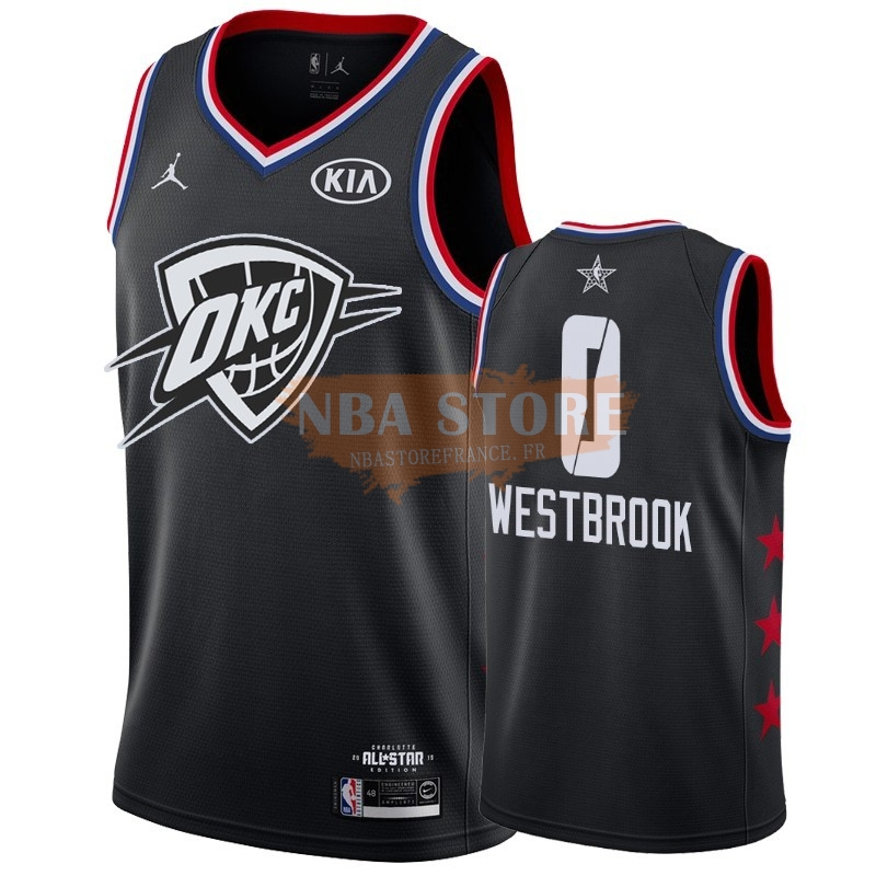 Maillot NBA 2019 All Star NO.0 Russell Westbrook Noir