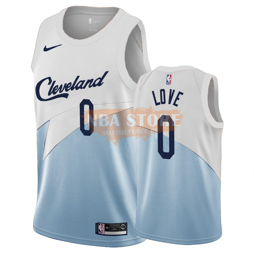 Maillot NBA Earned Edition Cleveland Cavaliers NO.0 Kevin Love Bleu 2018-19