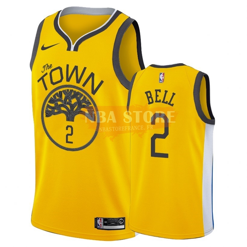 Maillot NBA Earned Edition Golden State Warriors NO.2 Jordan Bell Nike Or 2018-19