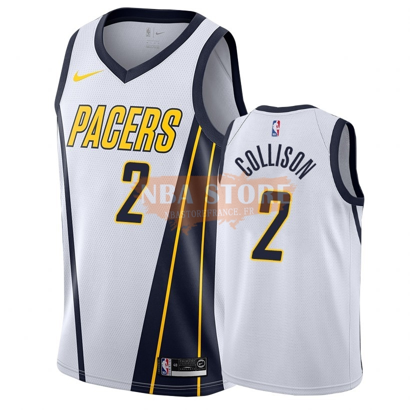 Maillot NBA Earned Edition Indiana Pacers NO.2 Darren Collison Blanc 2018-19