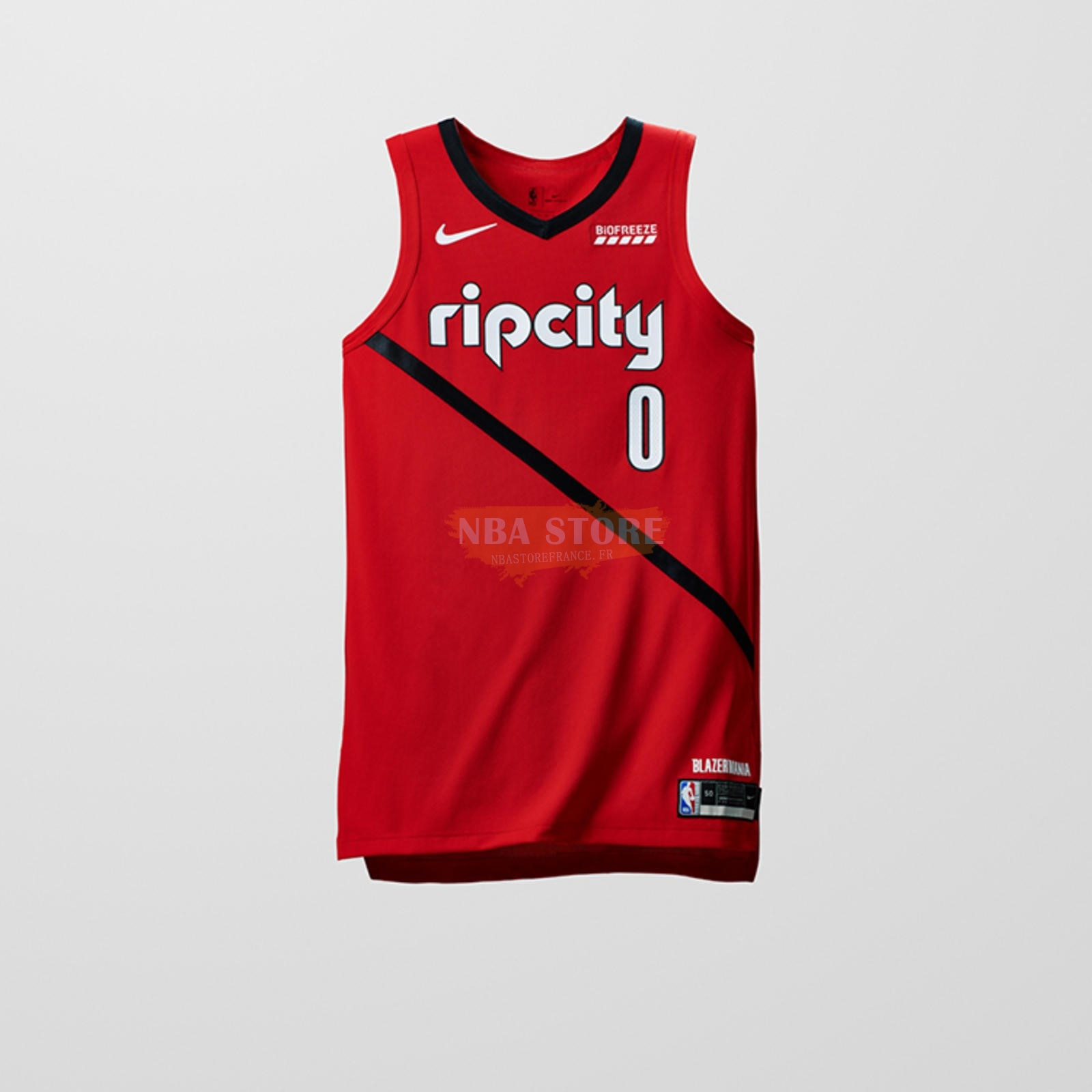 Maillot NBA Earned Edition Portland Trail Blazers NO.0 Damian Lillard Rouge 2018-19