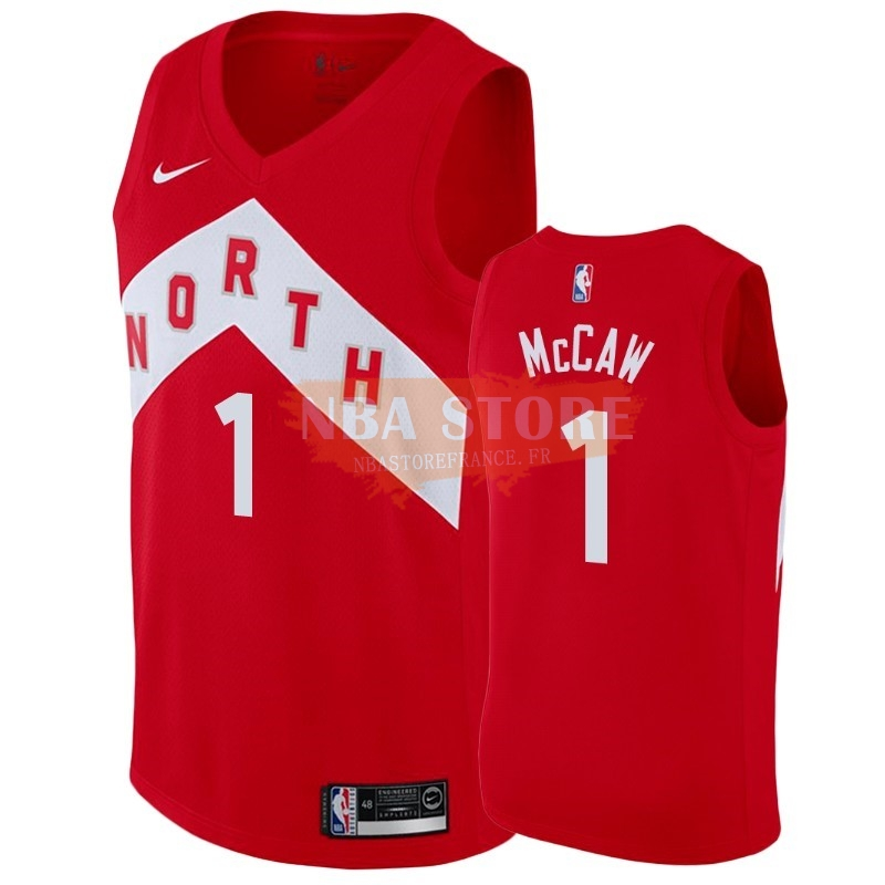Maillot NBA Earned Edition Toronto Raptors NO.1 Patrick Mccaw Rouge 2018-19