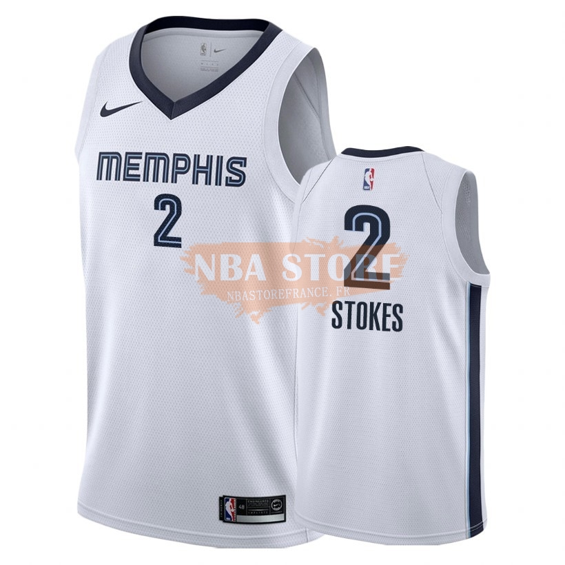 Maillot NBA Nike Memphis Grizzlies NO.2 Jarnell Stokes Blanc Association 2018-19