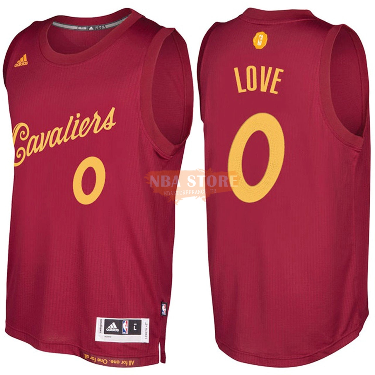 Maillot NBA Cleveland Cavaliers NO.0 Kevin Love Rouge Hardwood Classics 2016-17