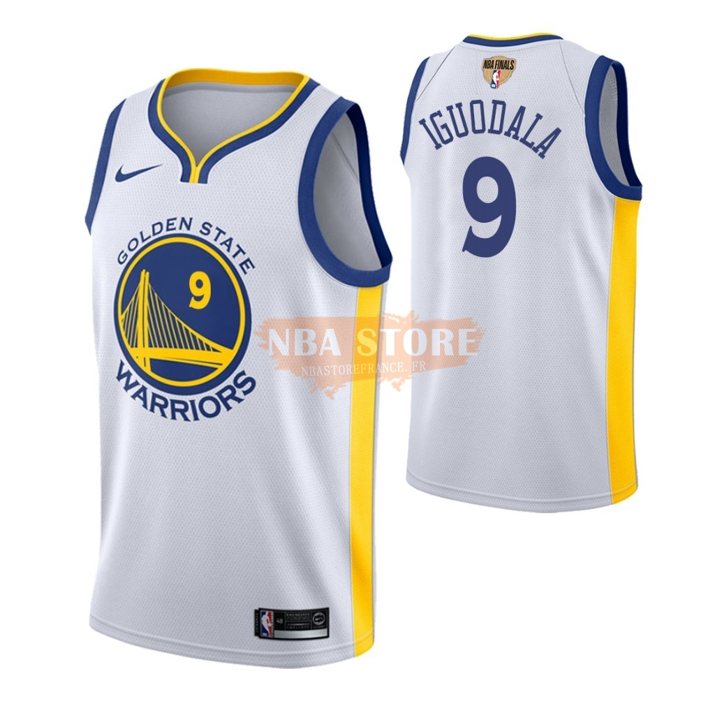 Maillot Golden State Warriors 2019 NBA Finales NO.9 Andre Iguodala Blanc Association