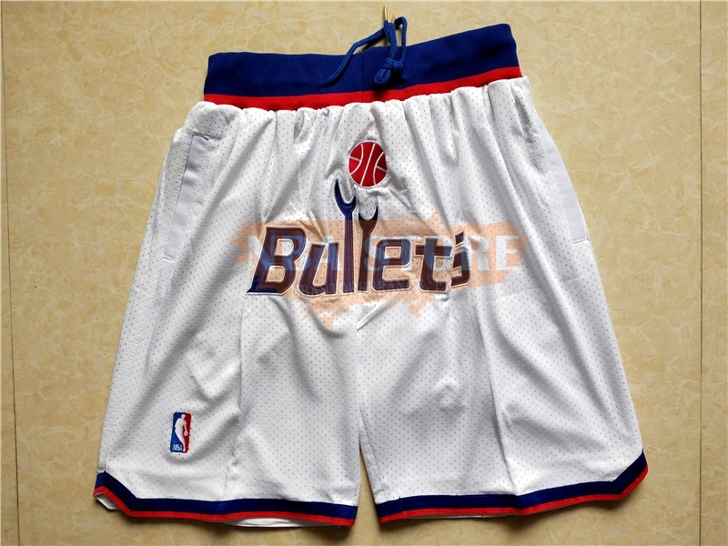 Pantalon Basket Washington Wizards Blanc