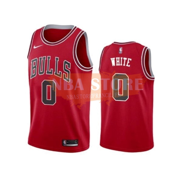 Maillot NBA Nike Chicago Bulls NO.0 Coby White Rouge Icon 2019-20