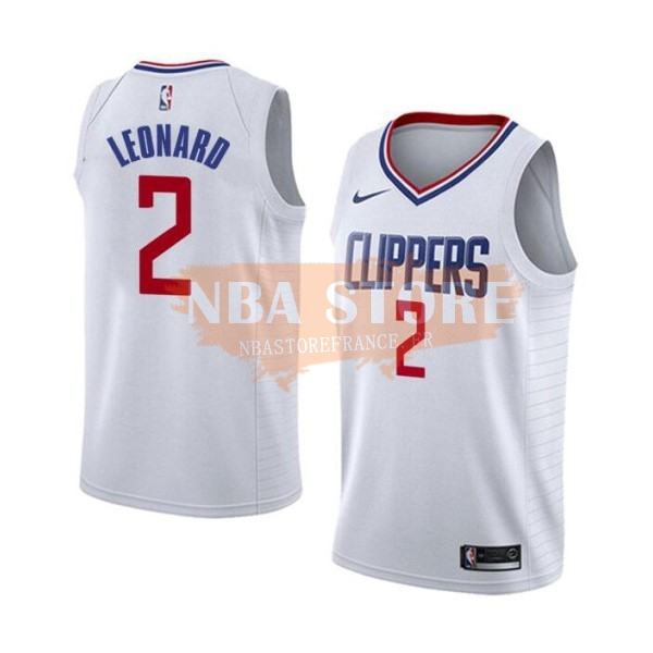 Maillot NBA Nike Los Angeles Clippers NO.2 Kawhi Leonard Blanc Association 2019-20