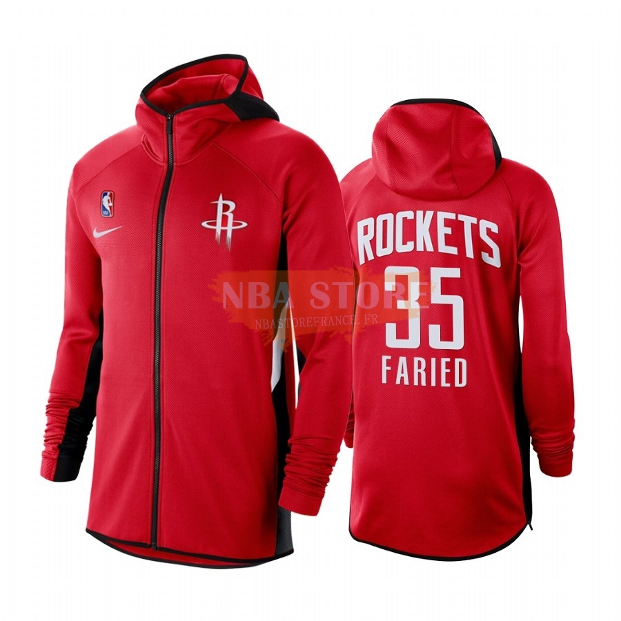Hoodies NBA Houston Rockets NO.35 Kenned Faried Rouge