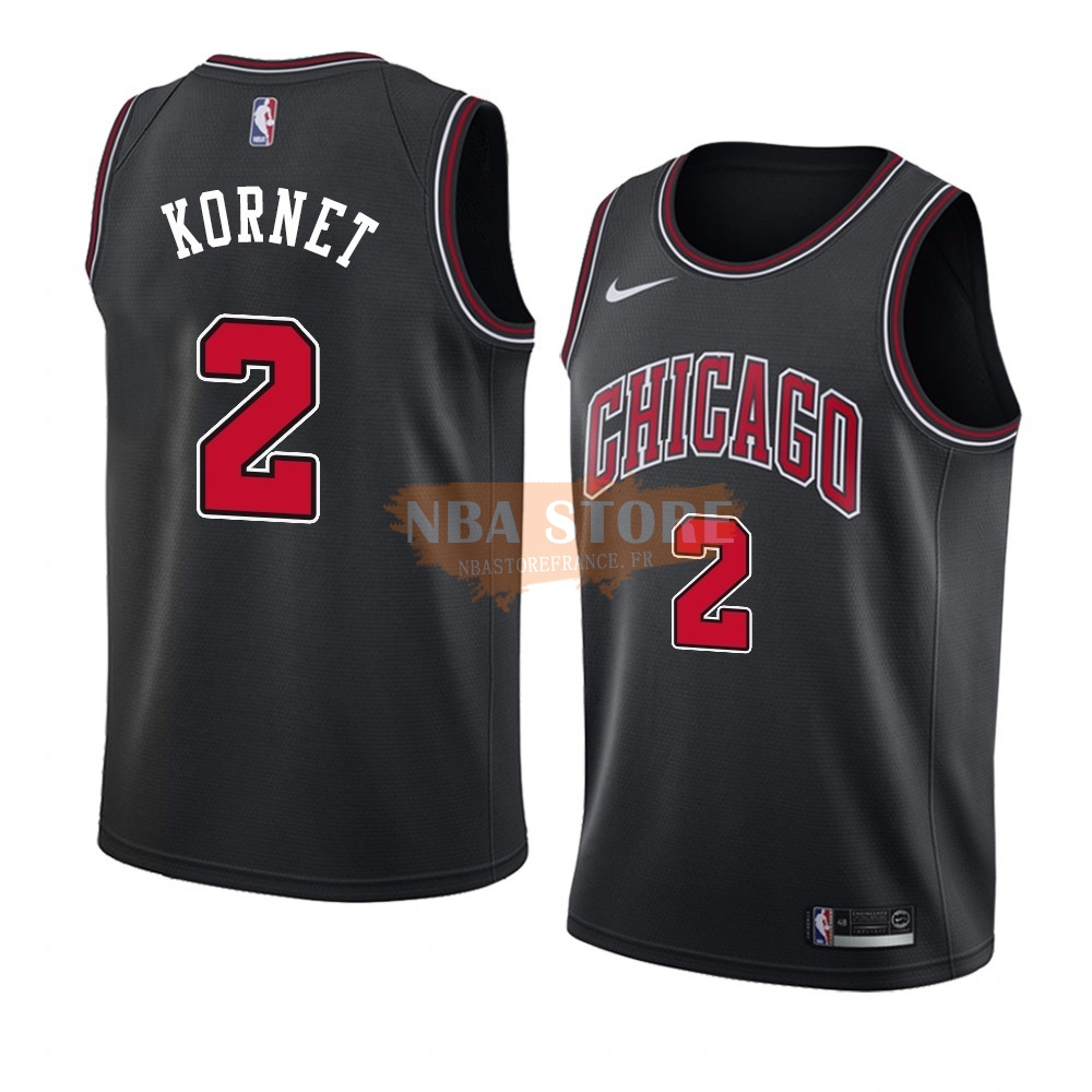 Maillot NBA Nike Chicago Bulls NO.2 Luke Kornet Noir Statement 2019-20