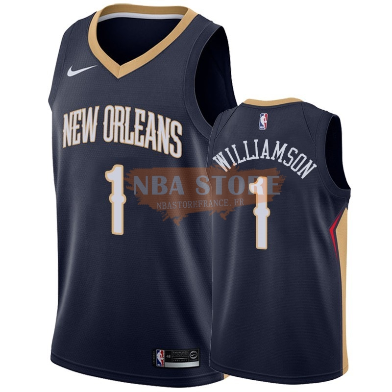 Maillot NBA Nike New Orleans Pelicans NO.1 Zion Williamson Marine Icon