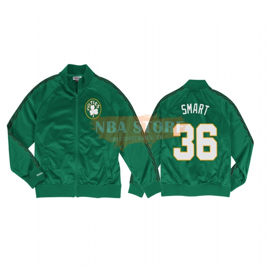 Survetement NBA Boston Celtics NO.36 Marcus Smart Vert