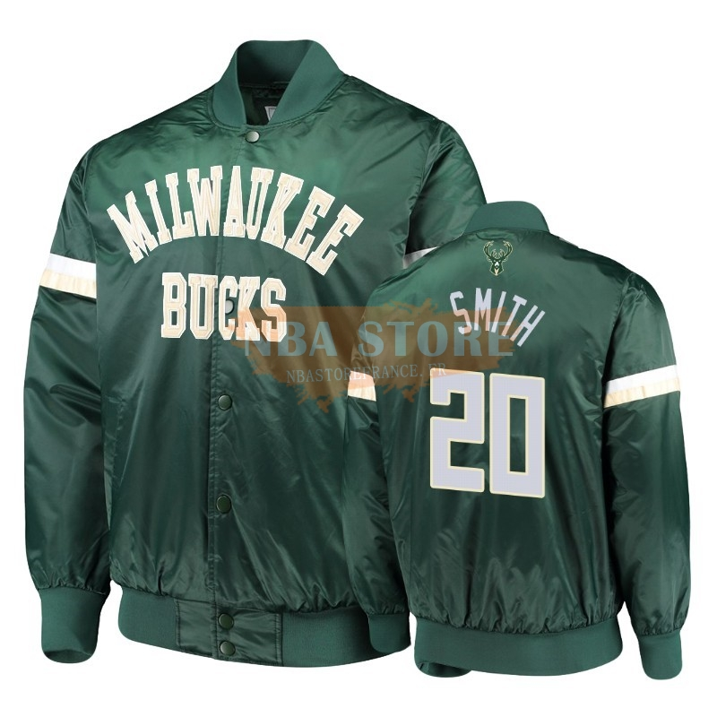Survetement NBA Milwaukee Bucks NO.20 Jason Smith Vert