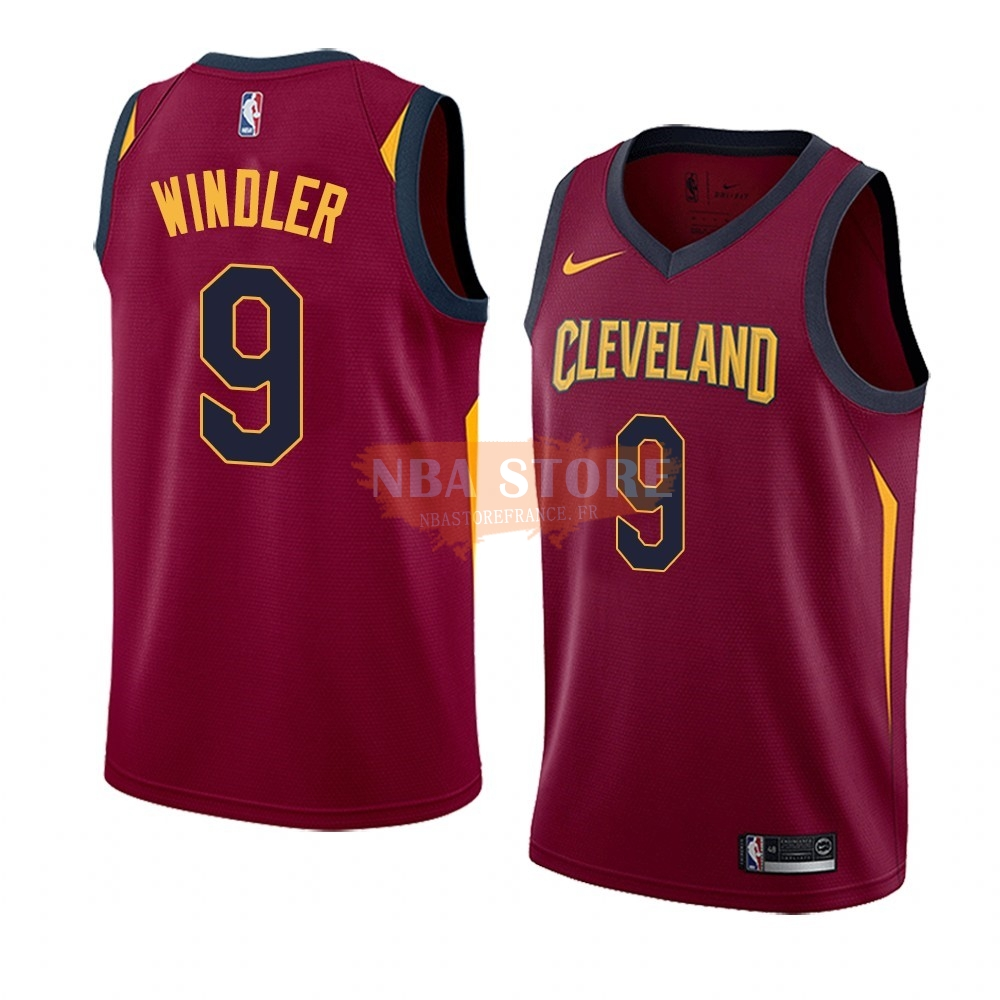 Maillot NBA Nike Cleveland Cavaliers NO.9 Dylan Windler Rouge Icon 2019-20