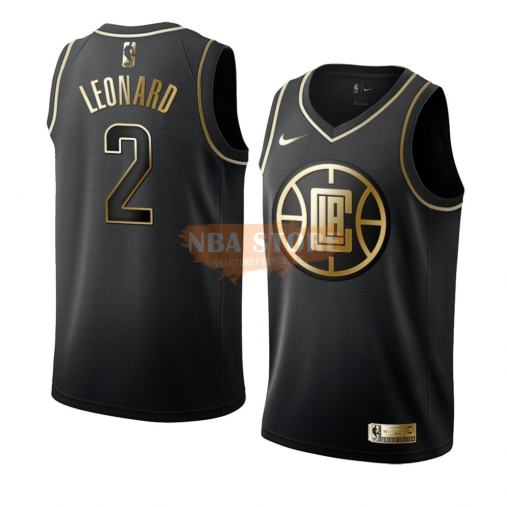 Maillot NBA Nike Los Angeles Clippers NO.2 Kawhi Leonard Or Edition 2019-20