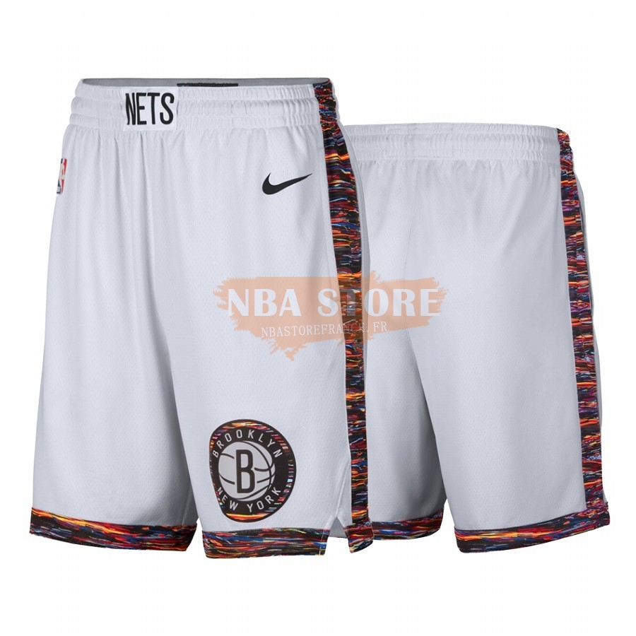 Pantalon Basket Brooklyn Nets Nike Blanc Ville 2019-20